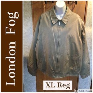 Tan Removable Lining London Fog Men's Jacket XL Rg